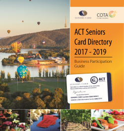 Seniors Card Directory - Business Participation Guide
