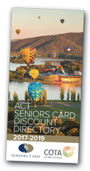 ACT Seniors Card Discount Directory cover